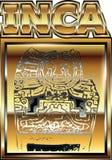 Ancient Peruvian gold ornament illustration Stock Photo