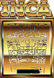 Ancient Peruvian gold ornament illustration Royalty Free Stock Images