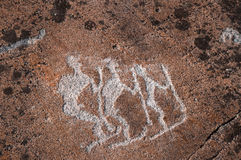 Ancient petroglyph Royalty Free Stock Image