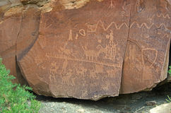 Ancient Petroglyphs Stock Images