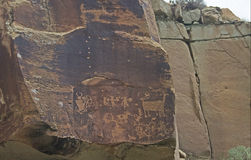 Ancient Petroglyphs Royalty Free Stock Images