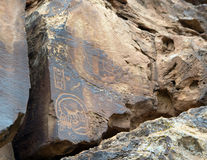 Ancient Petroglyphs Stock Photography