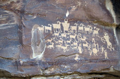 Ancient Petroglyphs Stock Photo