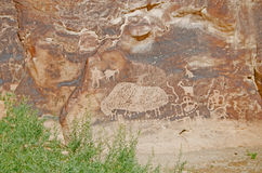 Ancient Petroglyphs Royalty Free Stock Image