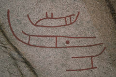 Ancient petroglyphs Royalty Free Stock Photography