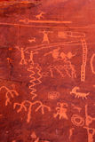 Ancient Petroglyphs In Valley Of Fire, Nevada Royalty Free Stock Image