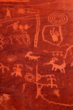 Ancient Petroglyphs In Valley Of Fire, Nevada Royalty Free Stock Photo
