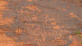 Ancient petroglyphs royalty free stock photos