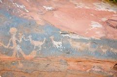 Ancient Petroglyphs - Talampaya National Park - Argentina. Ancient Petroglyphs in Talampaya National Park - Argentina Stock Images