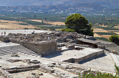 Ancient Phaestos at Crete island in Greece Stock Photography