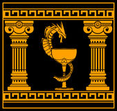 Ancient pharmacy symbol Royalty Free Stock Photo