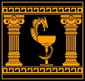 Ancient pharmacy symbol Royalty Free Stock Photo