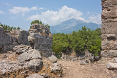 Ancient Phaselis city Royalty Free Stock Photography