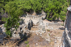 Ancient Phaselis city Royalty Free Stock Image