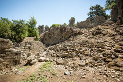 Ancient Phaselis's ruins. Stock Photos