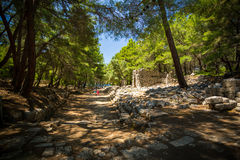 Ancient Phaseliss ruins. Royalty Free Stock Image