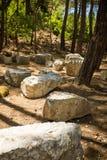 Ancient Phaselis's ruins. Stock Image