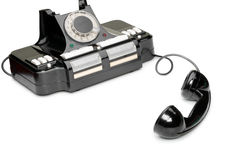 Ancient phone, off the hook Stock Photo