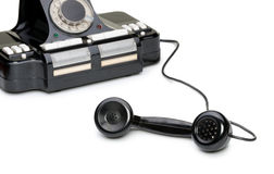 Ancient phone, off the hook Stock Images