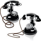 Ancient phones Royalty Free Stock Photo