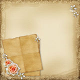Ancient photo album page Royalty Free Stock Photo