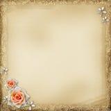 Ancient photo album page Stock Images
