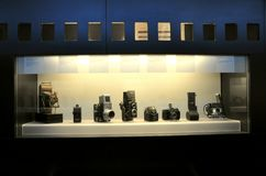 Ancient photo camera museum in Italy  Stock Photography