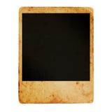 Polaroid photo frame. Ancient dirty photo frame over white Stock Photo