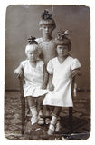 Ancient photo of sisters Royalty Free Stock Photos