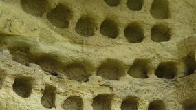 Ancient Pigeon Holes in Cappadocia`s Caves Dwellings Royalty Free Stock Photos