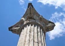 Ancient pillar. In roman villa Stock Photography