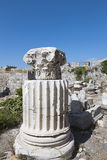 Ancient pillar from Kos island in Greece Stock Photography