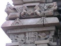 Ancient pillar sculpture. Place - Aishwareshwar temple at Sinnar, India royalty free stock photos