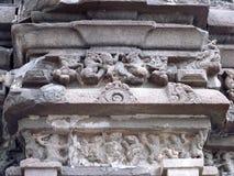 Ancient pillar sculpture. Place - Aishwareshwar temple at Sinnar, India stock photos