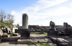Ancient pillars Stock Photo