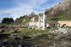 Ancient pillars Stock Photography
