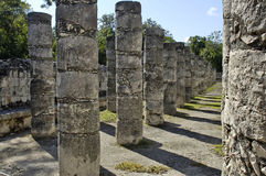 Ancient pillars built by the Mayas Royalty Free Stock Photo