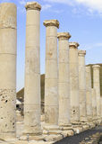 Ancient pillars at the city of beit shean Royalty Free Stock Image
