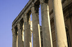 Ancient pillars - Forum Romanum Stock Images