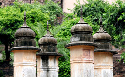 Ancient pillars infront of Ranthambore Fort Stock Photos