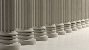 Ancient pillars in a row Royalty Free Stock Images