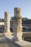 Ancient pillars of ruined roman temple Royalty Free Stock Photo