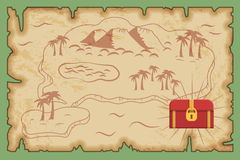 Ancient pirate treasure map pattern Royalty Free Stock Images