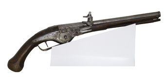 Ancient pistol Royalty Free Stock Images