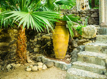 Ancient pitcher on the monastery Mary Magdalene Stock Photo