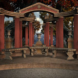 Ancient Place. 3D Render of an Ancient Place Royalty Free Stock Photos