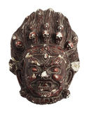 Ancient plaster mask. In brown color Stock Images