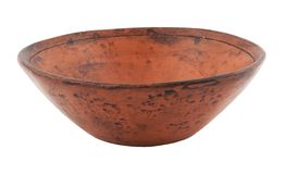 Ancient plate from ceramics. On a white background Stock Photography