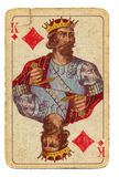 Ancient playing card background - king of diamonds Stock Image