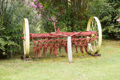 Ancient plough at the German Museum at Frutillar, Chile. Ancient plow at the German Museum a Frutillar, a town in Southern Chile in the Los Lagos Region on the Stock Images